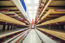 Automatisch magazijn voor plaatmateriaal