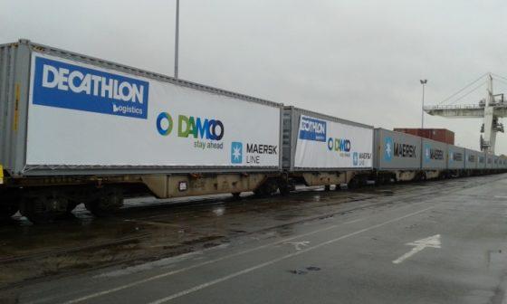 Eerste Damco bloktrein uit China arriveert op tijd in Frankrijk