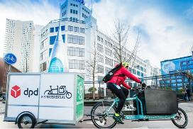 DPD bezorgt pakketten in Eindhoven met de fiets