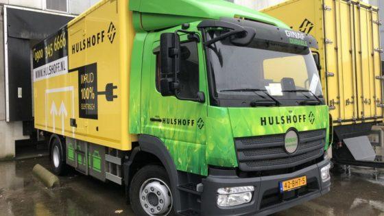 Hulshoff doet stadsdistributie '100% elektrisch' vanuit nieuwe hub