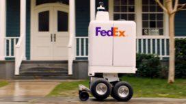 Autonome bezorgrobot van FedEx kan traplopen