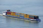 Eerste binnenvaartschip op volledig duurzame biobrandstof