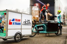 Teamtrans en Fietskoeriers.nl vinden elkaar in last mile distributie