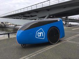 Bezorgrobot Albert Heijn maakt eerste meters op High Tech Campus
