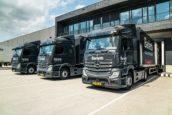 Mandemakers de weg op met spiegelloze Mercedes-Benz Actros